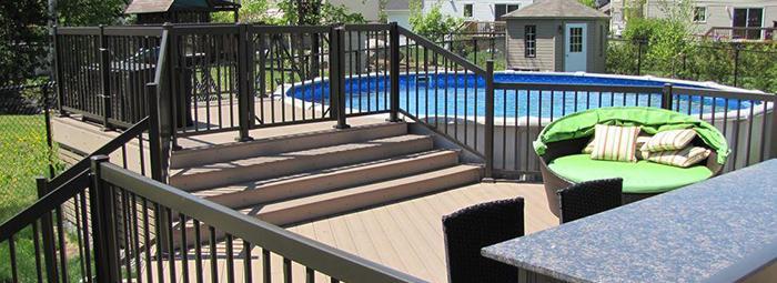 rampe de piscine sécuritaire